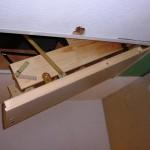 Bodentreppe mit gedämmter Klappe