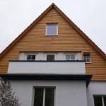 Fassadenverschalung mit Dämmung